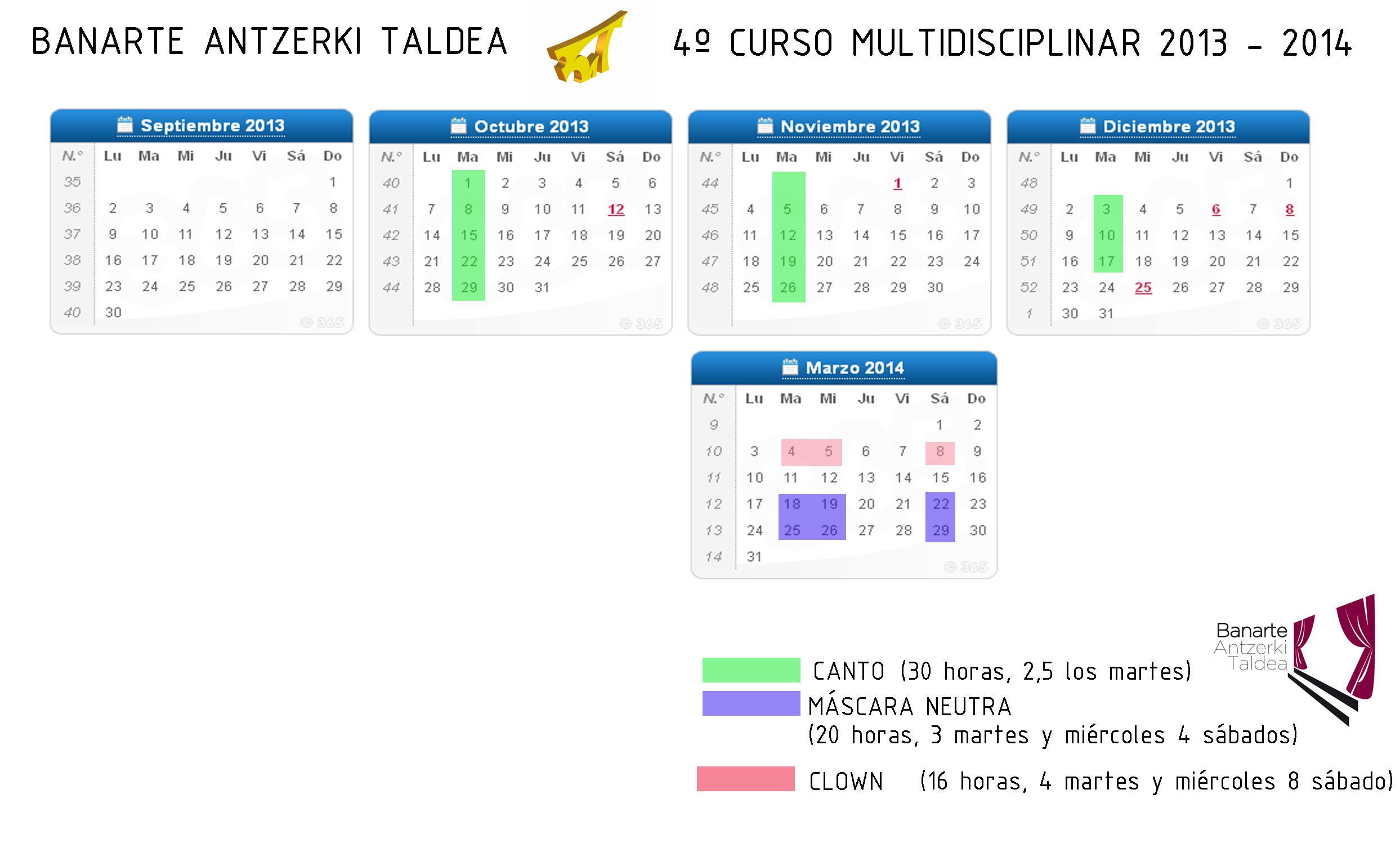 Calendario Curso 2013-2014