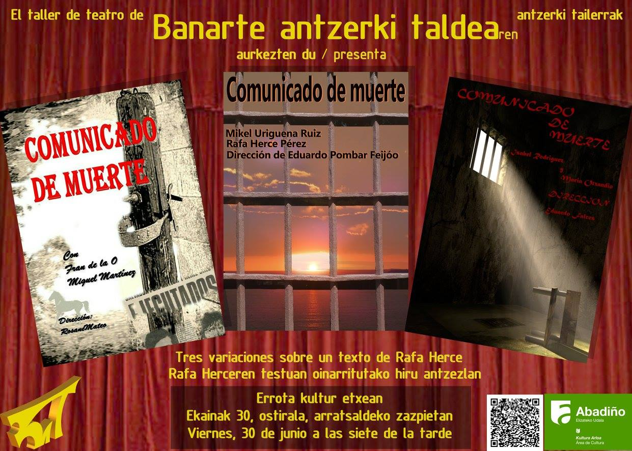 Comunicado de muerte (tres variantes)
